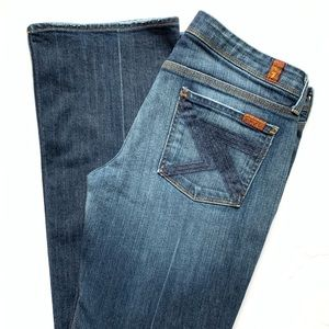 7 for all mankind flynt boot cut jeans denim pant